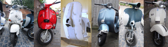 Dent_repaired_vespas_Lambrettas_after_respray
