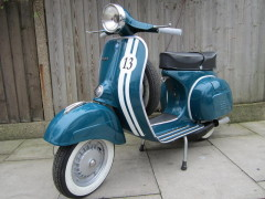 Finished vintage Vespa after restoration